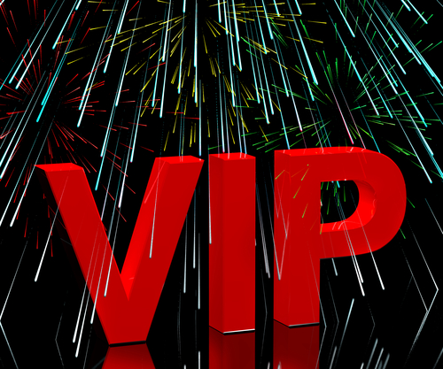 VIP Word With Fireworks Shows Celebrity Or Millionaire Party